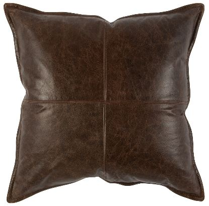 Leather Parsons Cocoa - 22x22