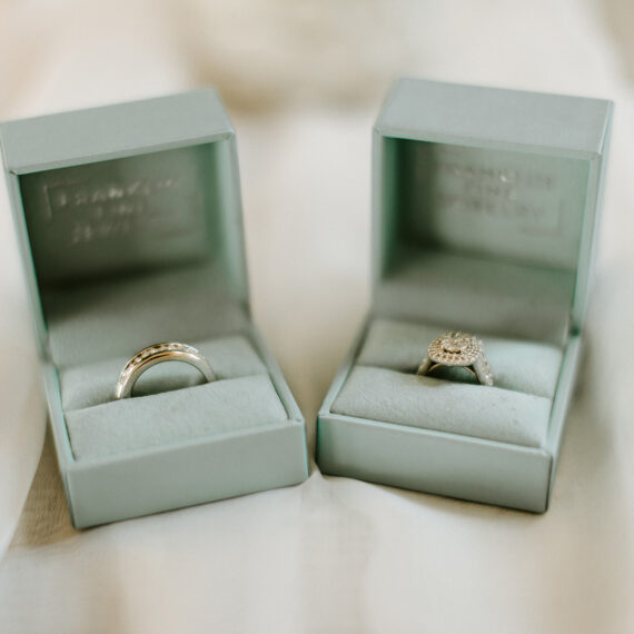 Rings in Blue Boxes