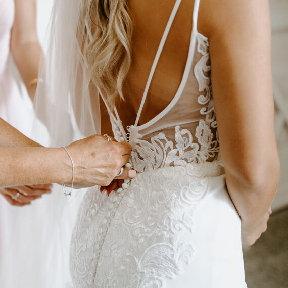 Bride's dress from back